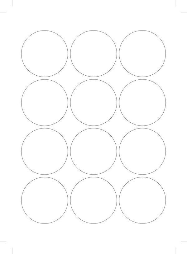Штампы для вырубки кружков 6 см